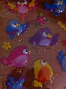 20 Bird & 8 Flower Mix Sticker - Reward Sticker Education About Fly Sky Animal