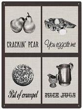 Crackin' Pear Mix metal sign 400mm x 300mm  (rh)  REDUCED