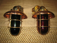 "LARGE 14"" Bronze 90 degree Passageway lights-PAIR Port/Starboard nautical lights"