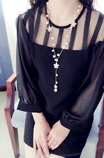 Pearl Flower Sweater Chain Elegant Women's Long Pendant Necklace Fashion Jewelry