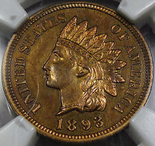 1893 Proof Indian Head Cent Gem Proof NGC 64-RB... Virtually Fully Red! So NICE!