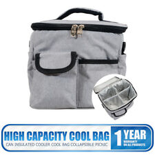 2018 New Insulated Lunch Bag Large Cooler with Liner Gray Meal Carry Bag