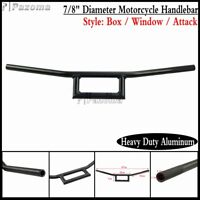 "7/8"" Black Motorcycle Handlebars Bar Wide For Harley Honda Suzuki Yamaha Ducati"
