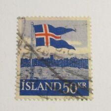 Iceland Scott #314 Θ used, flag stamp, fine + 102 card, superfleas