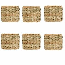 Seagrass 5.5 Inch Clip On Drum Chandelier Lamp Shades (Set of 6)