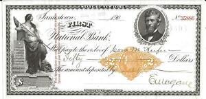 Jamestown New York First National Bank Check 1901 Draft Revenue Imprint & Vgns