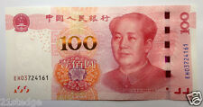 CHINA 100 YUAN Chairman Mao 2015 New Security Thread Banknote UNC