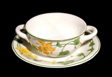 Beautiful Villeroy Boch Geranium Cream Soup Bowl And Saucer