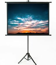 """VIVO 50"""" Portable Projector Screen 4:3 Projection Pull Up Foldable Stand Tripod"""