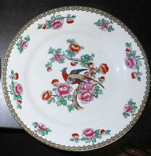 """c1910 Winkle & Co. """"Pheasant"""" 8"""" Plate, UK Whieldon Ware, Transfer. Color Added"""