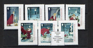 Guernsey 2017  Christmas Set of  7 Values UM