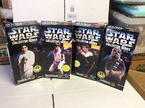 Star Wars Collector Series Lot Of 4, Leia , Luke , Han , Chewbacca SEALED !!