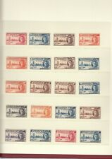 GEORGE VI 1946 VICTORY Parliament SET COMPLETE 82 x STAMPS MNH + Extras