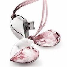 Chiavetta USB 8 GB Cuori Cristallo rosa fucsia Accessori Ciondolo Hjerte