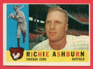 1960 Topps # 305 Richie Ashburn Chicago Cubs Great Condition