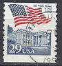 USA Briefmarke gestempelt 29c White House 1992 Fahne Flagge Rundstempel / 4307