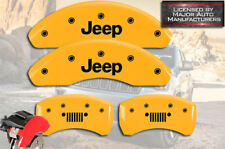 2015-2017 Jeep Renegade Front + Rear Yellow MGP Brake Disc Caliper Covers Grill