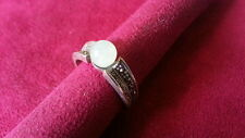 Ring 925 Sterling Silver *Size 7.5*G562 Beautifu Light Green Ball Gems Marcasite
