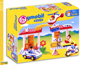 Playmobil 123 Playset 5046 Hospital with Paramedics and Police Officers NEW