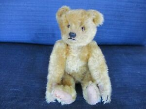 """8 1/2"""" Antique Fully Jointed Mohair Steiff Bear in Excellent Condition, Ca. 1920"""