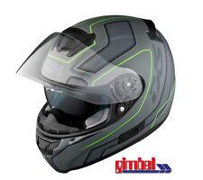 "IXS Helm HX 215 ""LAZY"" mit integrierter Sonnenblende titan schwarz grün - matt"