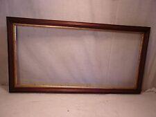 "Antique WALNUT frame  32 3/4 x 17 1/4  holds 29 3/4 x 14 1/4  molding 1 1/2"""