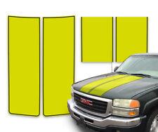 GMC Sierra Racing Rally Truck Stripes Decal Yellow w/ Black Pinstripe 2000-2006