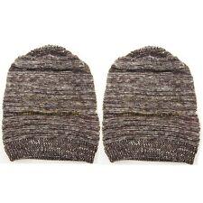 2x Unisex Women Men Knit Baggy Beanie Hats Winter Warm Oversized Ski Cap Hat