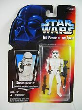 Star Wars Stormtrooper Power Of The Force Red/Orange Card 1995 Figurine
