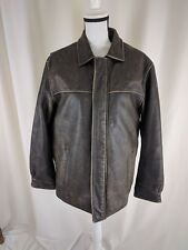 Wilsons Leather Dark Brown Thinsulate Coat Jacket M Zip Out Liner