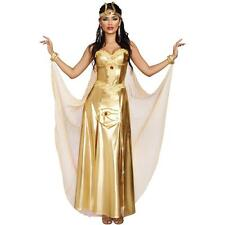 Cleopatra Goddess of Egypt Gold Dress Costume w/Headpiece size M Dreamgirl CHOP