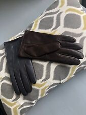 Designer PAUL SMITH Woman 100% Leather, Cashmere Lined  2Tone Gloves Sz  M BNWOT