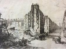 Alfred Taiée Paris en Train Rue de la Paix matinée 1868 Cadart et Luce eau-forte
