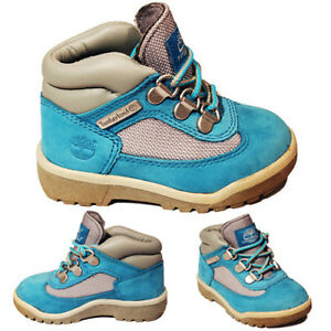 Timberland Field Boot Toddler Boys Blue Grey Leather Mesh Kids Boots 4788R