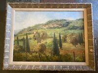 LOIS MAILOU JONES (District Of Columbia/Haiti 1905 - 1988) Oil French Landscape.
