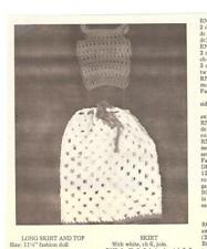 "Long Skirt and Top Crochet Pattern for Barbie or other 11-1/2"" Fashion Doll"