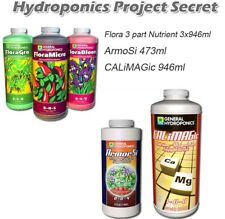 General Hydroponics Flora Micro Gro Bloom 3x1L with ArmorSi Calimagic Nutrients