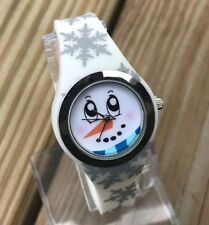 Mixit Girls Watches CHRISTMAS Analog Snowman Snow Flakes Holiday Wrist Watch