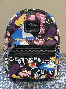 LOUNGEFLY NWT DISNEY ALICE IN WONDERLAND AOP MINI BACKPACK EXCLUSIVE SOLD OUT!