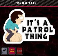 Randy Sticker Fits Nissan Patrol Vinyl Funny Bumper Decal Window Transfer 4wd