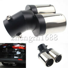 1 PC Twin Chrome Exhaust Muffler Tail Pipe Tip No Drilling needed Fit For Focus