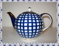 Lomonosov Porcelain Teapot Cobalt Quatro /cage 600 ml 22k gold Imperial IFZ  Rus
