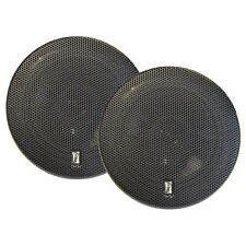 "PolyPlanar 6""inch Round Titanium 3Way Marine Waterproof Boat Speakers PAIR Black"
