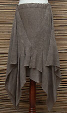 *ZUZA BART*DESIGN EXCLUSIVE BEAUTIFUL ASYMMETRICAL LINEN SKIRT*ALMOND*Size M