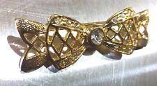 Brooch Bow Rhinestone Lapel Pin Pin Brooch 1 13/16x0 5/8in Gold Plated Pin