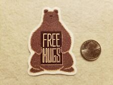 Free Hugs Bear Sticker Decal Super Cute