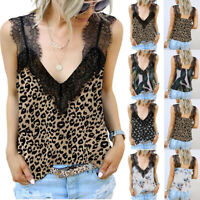 Women Sleeveless Loose Lace Vest T Shirt Ladies Summer Camisole Tank Tops Blouse