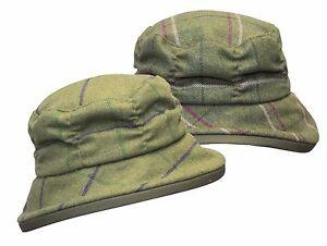 Walker & Hawkes Ladies Tweed Rouche Style Country Cap Baker Wool Hat XS-L