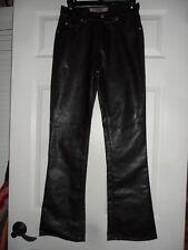 Paris Blue Originals Vintage 80s Faux Black Leather Pants Size 1