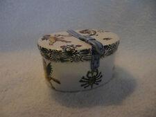rare boite à chapeau faience gien renaissance italienne blanc 1875
